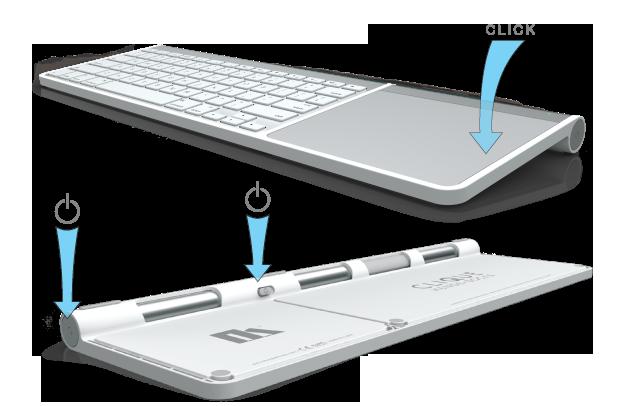henge docks release clique a smart frame for apple wireless keyboard and magic trackpad glen. Black Bedroom Furniture Sets. Home Design Ideas