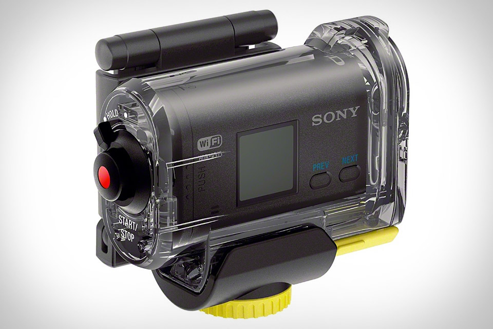 sony goes head on against gopro with their action cam mountable full hd action camcorder. Black Bedroom Furniture Sets. Home Design Ideas