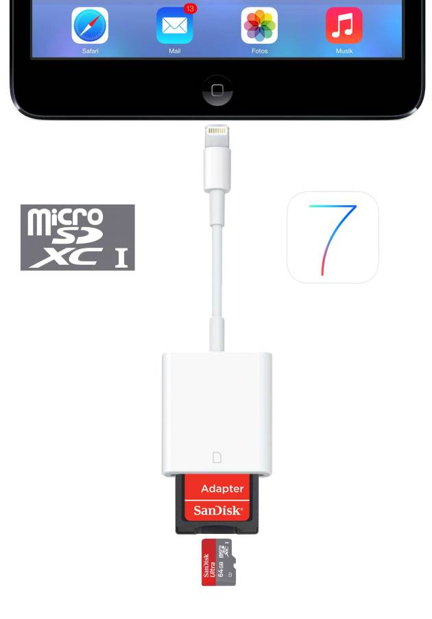iOS7 supports SD HC and SD XC Cards - CONFIRMED