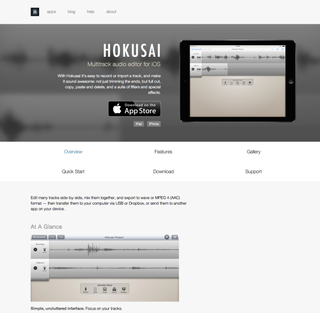 Hokusai – An advanced Multi Track Audio Editor for iOS (iPhone